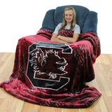 South Carolina Gamecocks Throw Blanket / Bedspread