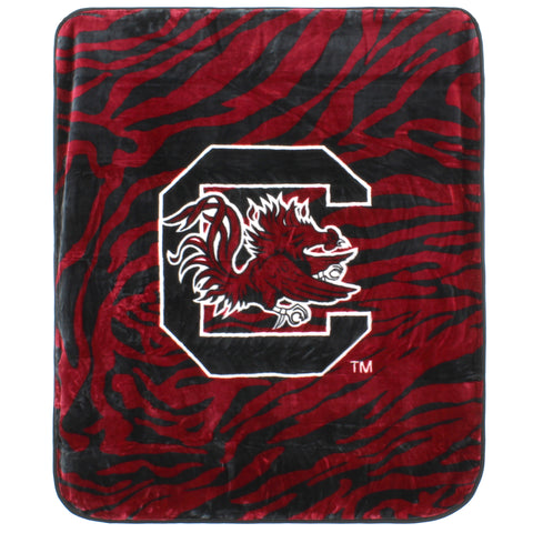 South Carolina Gamecocks Raschel Throw Blanket
