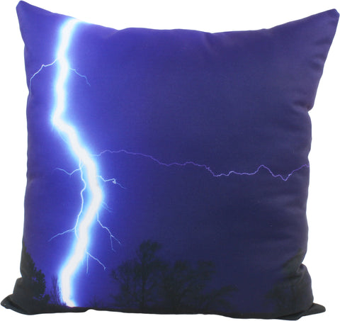 "Lighting Bolt Decorative Pillow, 16"" x 16"", Made in the USA"