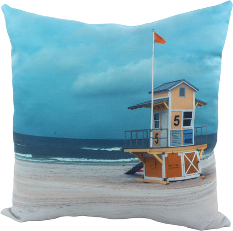 "Lifeguard Tower Decorative Pillow, 16"" x 16"", Made in the USA"