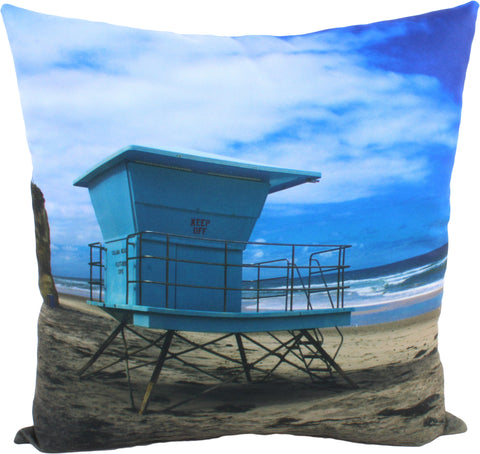 "Lifeguard Stand Decorative Pillow, 16"" x 16"", Made in the USA"