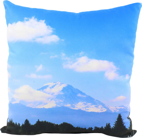 "Mountain Landscape Decorative Pillow, 16"" x 16"", Made in the USA"