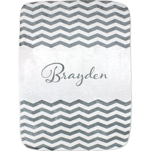 Personalized Chevron Baby Blanket