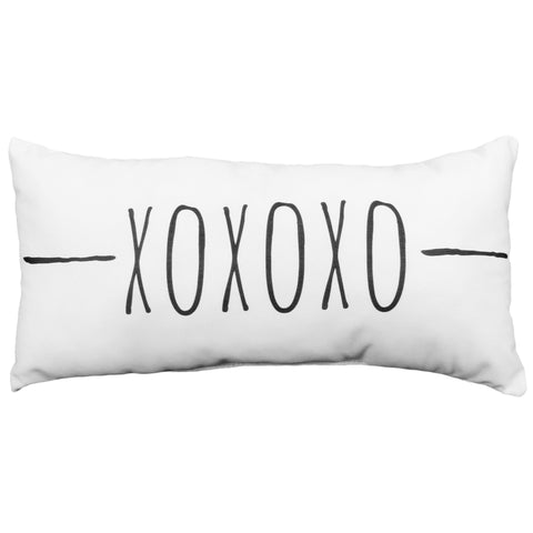 XOXOXO Small Decorative Pillow