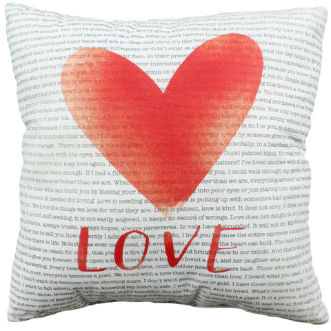 Love Quotes Reversible Pillow