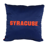 "Syracuse Orange 2 Sided Decorative Pillow, 16"" x 16"", Made in the USA"