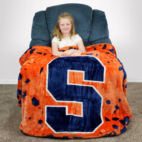 Syracuse Orange Huge Raschel Throw Blanket
