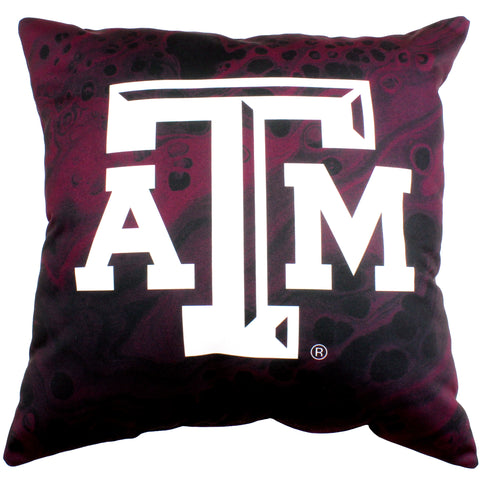 "Texas A&M Aggies 2 Sided Decorative Pillow, 16"" x 16"", Made in the USA"