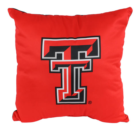 "Texas Tech Red Raiders 2 Sided Decorative Pillow, 16"" x 16"", Made in the USA"