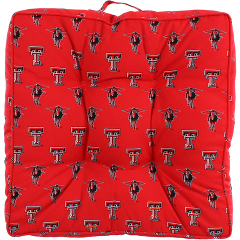 "Texas Tech Red Raiders Floor Pillow or Pet Bed, 24"" x 24"" Square"