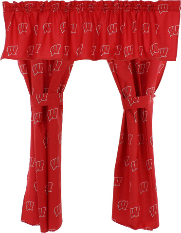 Wisconsin Badgers Curtain Valance