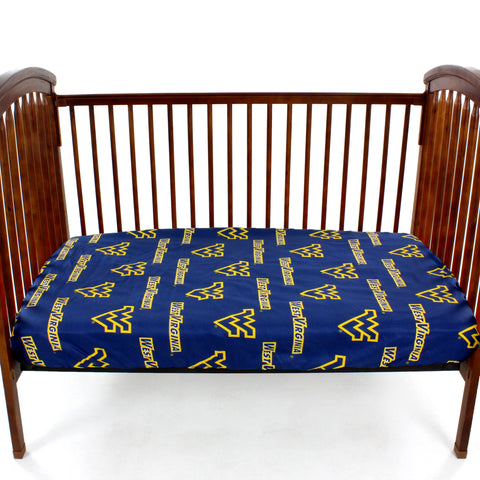 West Virginia Mountaineers Baby Crib Fitted Sheet