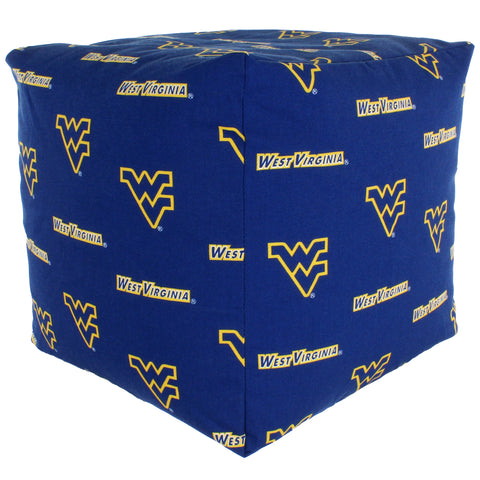West Virginia Mountaineers Cube Cushion