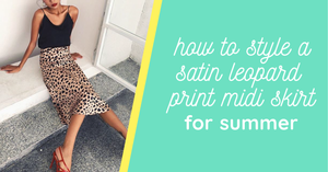 How to Style a Satin Leopard Print Midi Skirt for Summer
