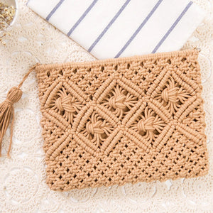 Waipio - Boho Woven Clutch Bag with Tassel