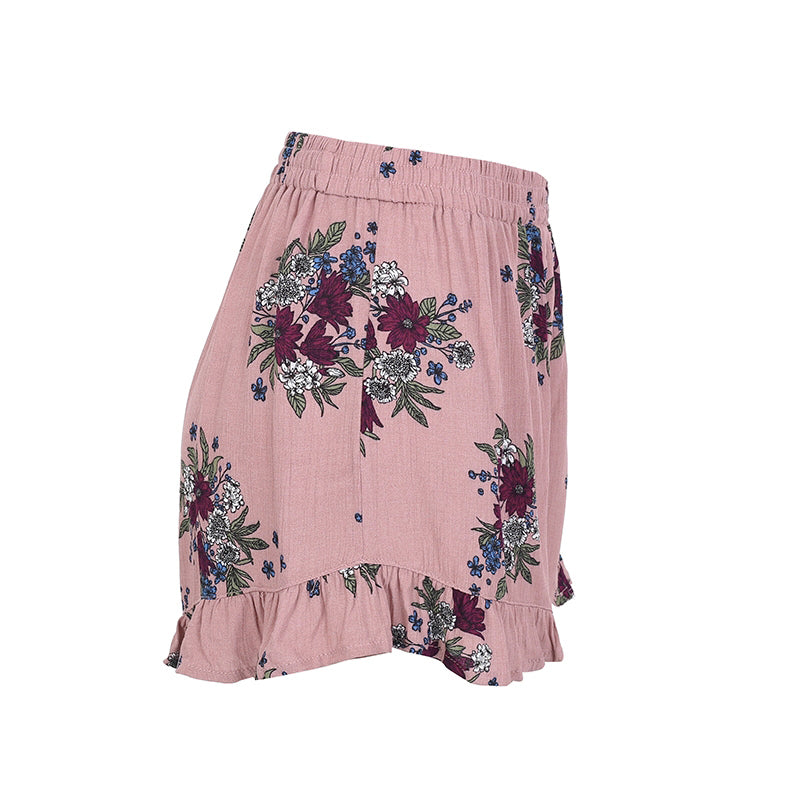 Algarve - High Waist Loose Ruffled Short Shorts