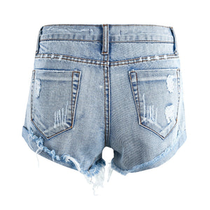 Nice - Mid Waist Denim Shorts