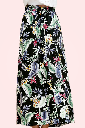 Biarritz - Boho High Waist Maxi Skirt