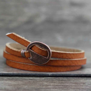 Capri - Multi-Layered Synthetic Leather Bracelet