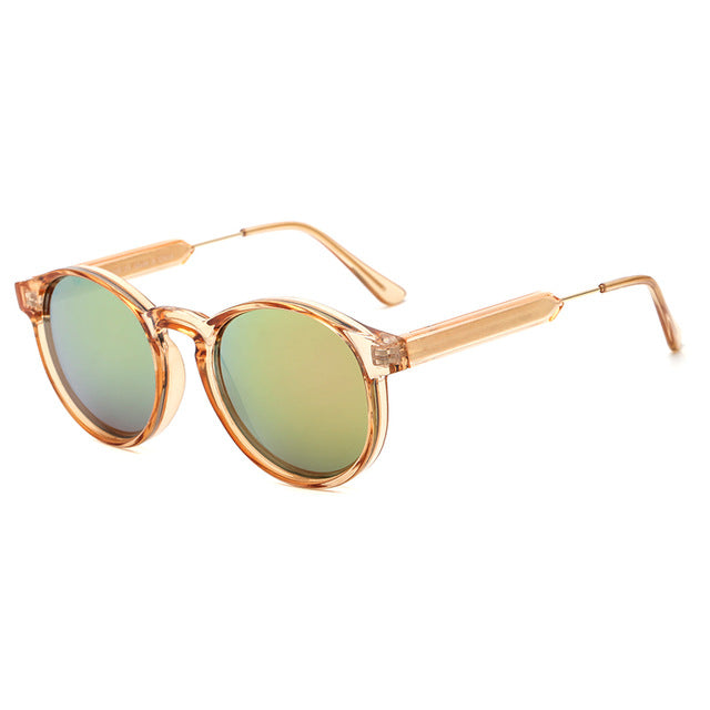 Stari - Round Retro Sunglasses with Polycarbonate Frame