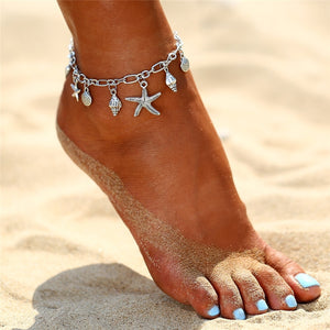 Lamu - Boho Starfish and Shell Anklets