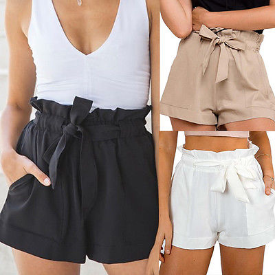 La Posita - Ruffled High Waist Shorts