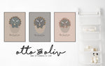Triceratops Triplets - collection of 3 prints - PUTTY- Otto and Oliv