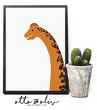 Percy Brachiosaurus SELFIE - leopard print - Otto and Oliv