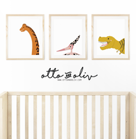SELFIES collection- three dinosaurs - animal print - Otto and Oliv