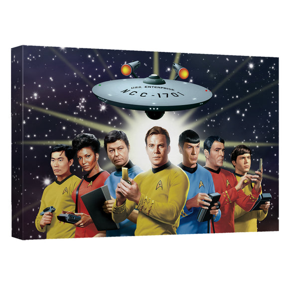 Star Trek - Original Crew Canvas Wall Art With Back Board