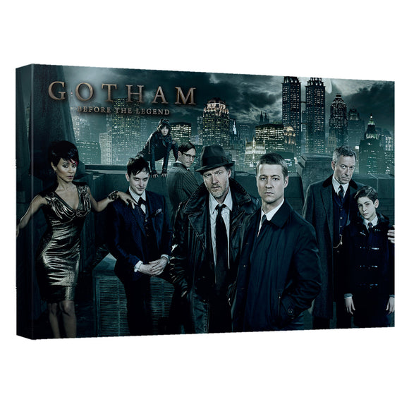 Gotham - Gotham Cast Canvas Wall Art With Back Board