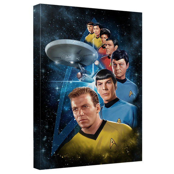Star Trek - Among The Stars Canvas Wall Art With Back Board