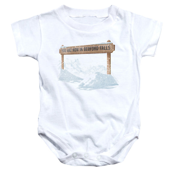 Its A Wonderful Life - Bedford Falls Infant Snapsuit