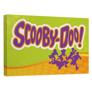 Scooby Doo - Running Scared Canvas Wall Art With Back Board