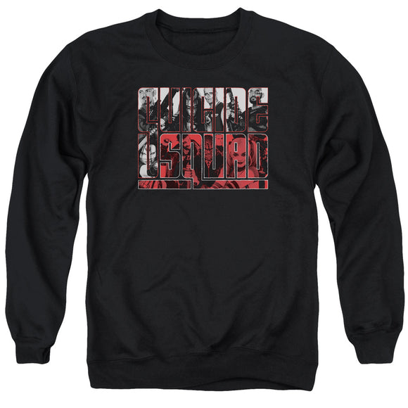 Suicide Squad - Black And White And Red All Over Adult Crewneck Sweatshirt