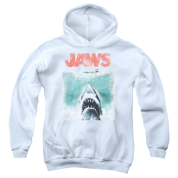 Jaws - Vintage Poster Youth Pull Over Hoodie