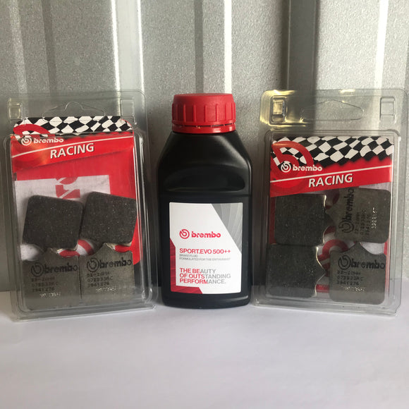 Free brembo sport evo Brake Fluid when buying 2 sets of Brembo Brake Pads