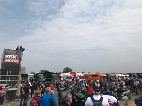 Donington Park Wsbk paddock Saturday raceday