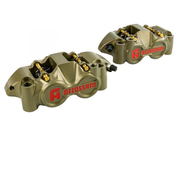 CALIPER CNC MONOBLOC ACCOSSATO WHEELBASE 108 MM TITANIUM PISTONS - The Brake King