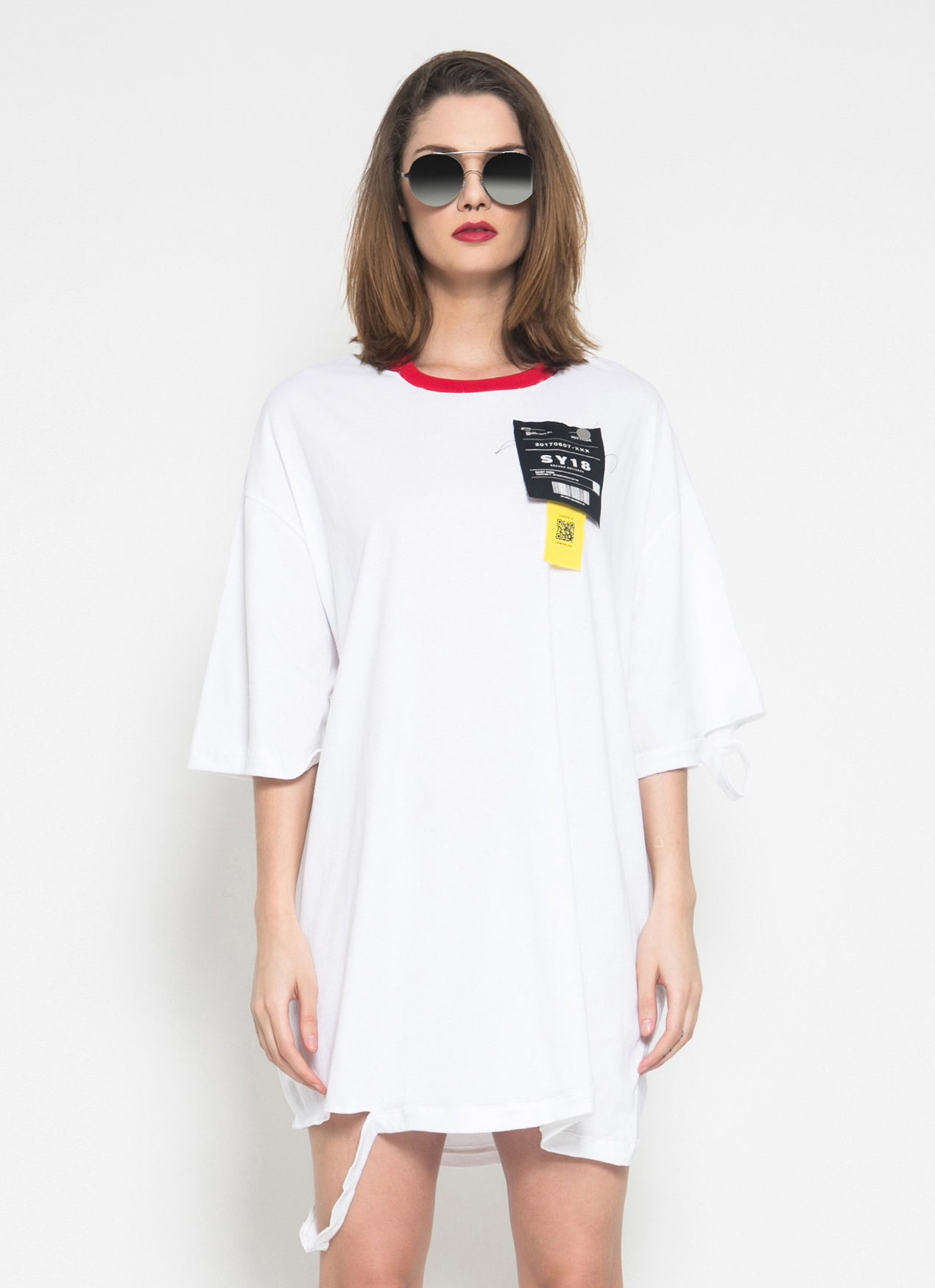 NoHo T-Shirt Dress (White) - Saint York