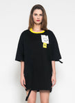 NoHo T-shirt Dress (Black) - Saint York