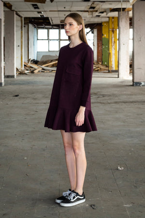 Gramercy Dress - Maroon - Saint York