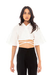 Bushwick Cropped Top (White)