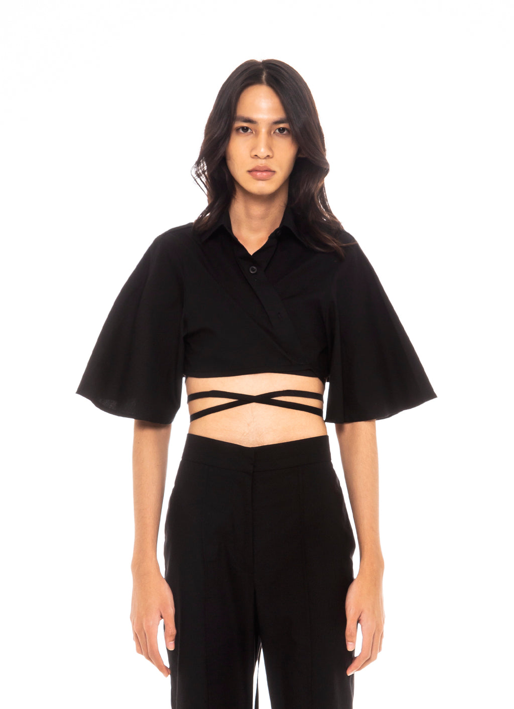 Bushwick Cropped Top (Black)