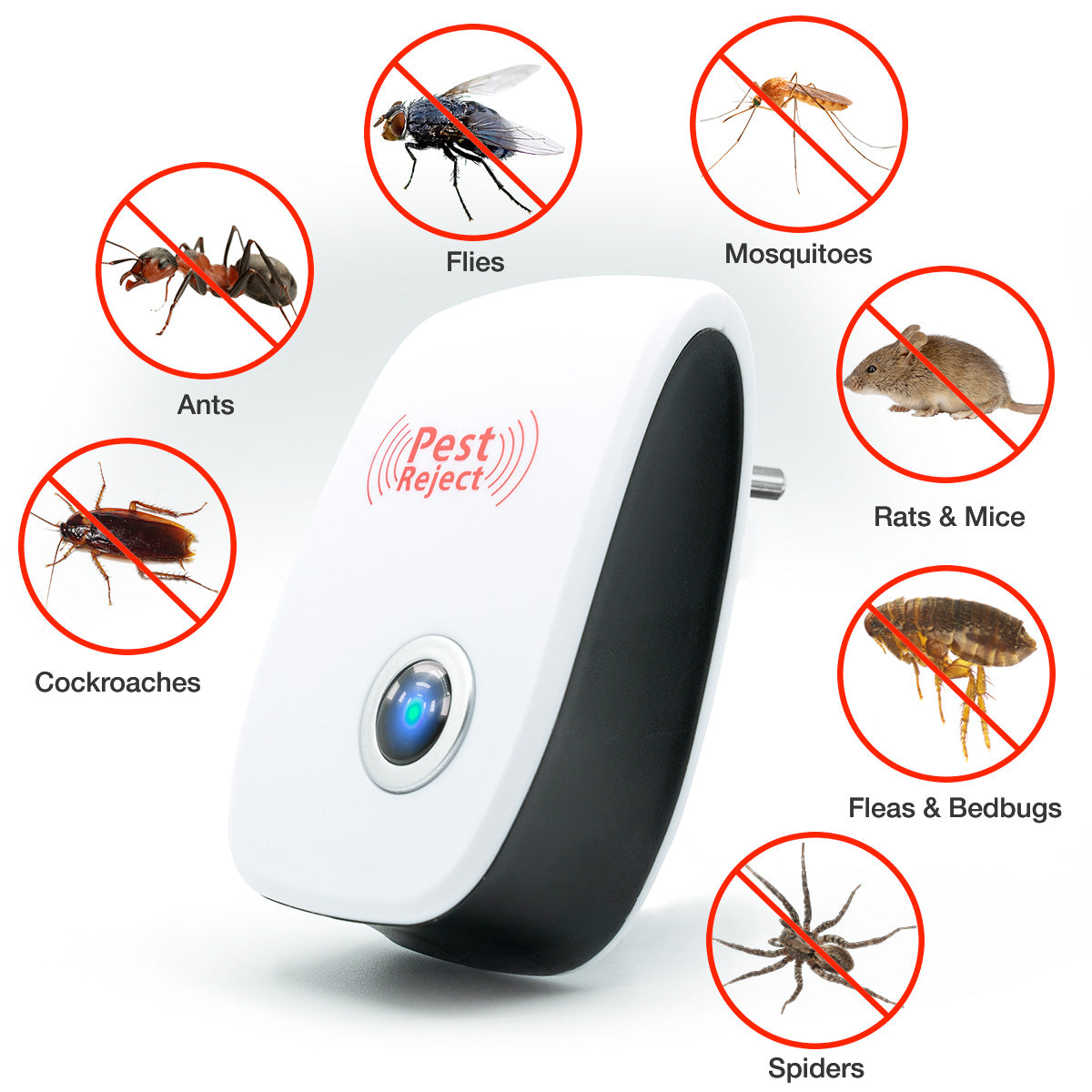 Rat Ultra-Sonic Mosquito And Pest Repellent no-pestz