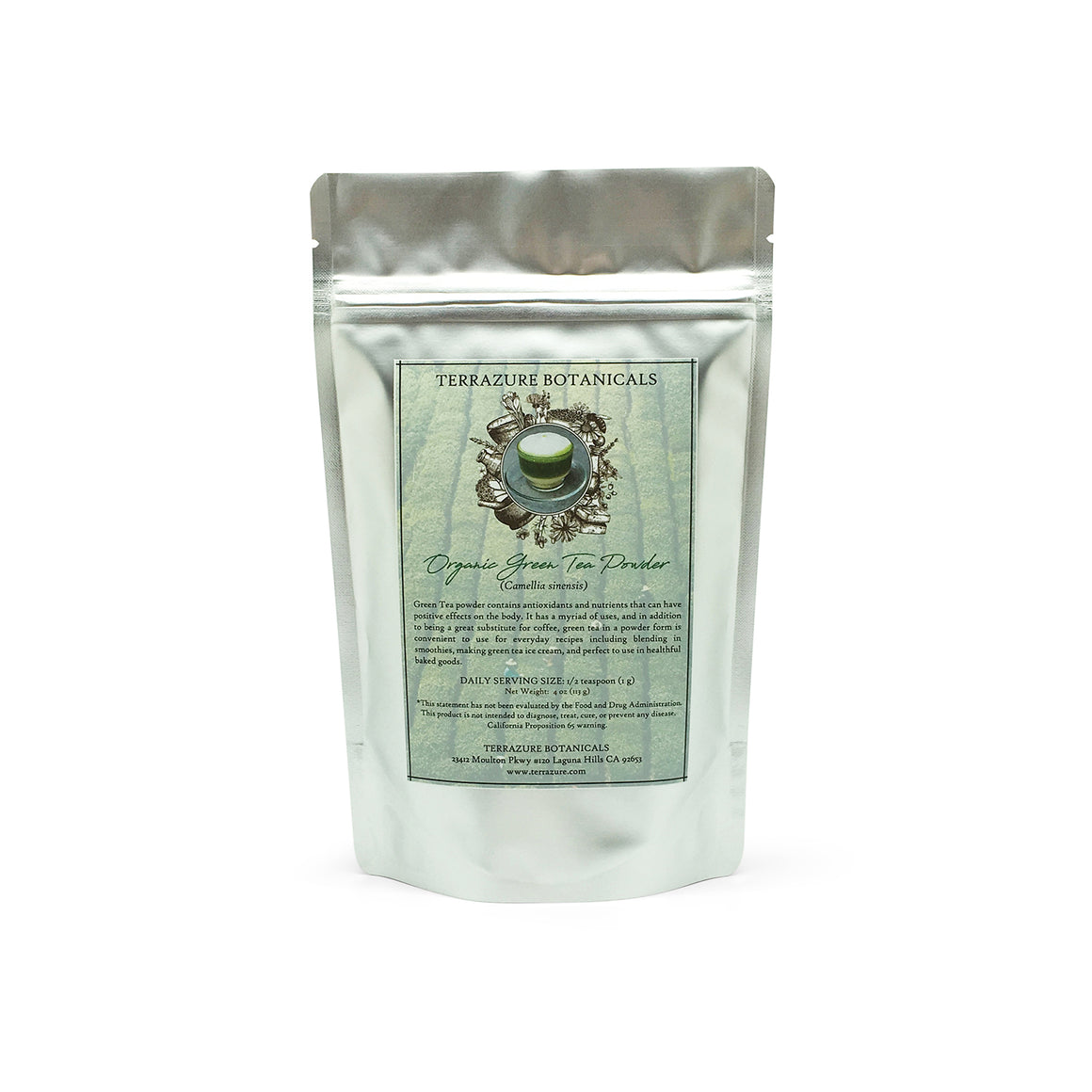 GREEN TEA Leaf Organic Powder Extract