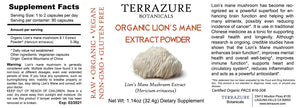 LION'S MANE Organic Extract Powder in capsules