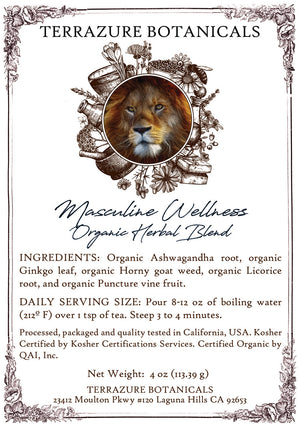 MASCULINE WELLNESS Organic Herbal Blend