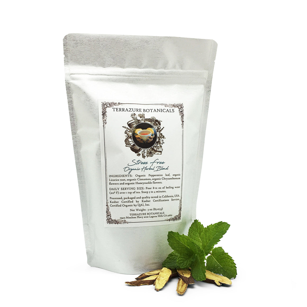 STRESS FREE Organic Bulk Herbal Tea