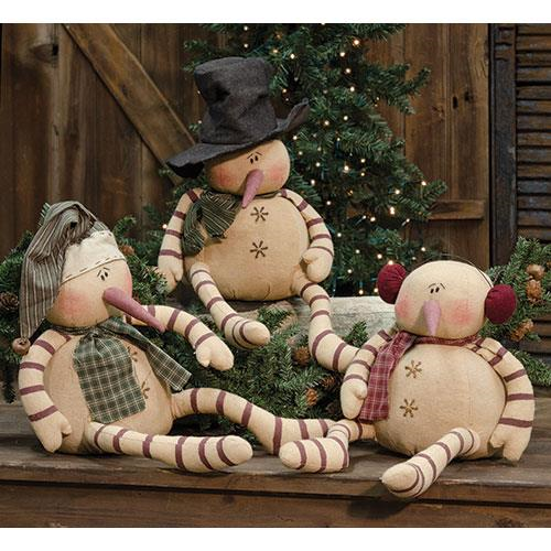 Whimsy Snowmen, Set/ 3 - Thompsons Vintage Treasures